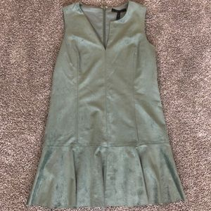 BCBG green suede dress